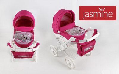 Kočárek pro panenku JASMINE Kids s pejskem