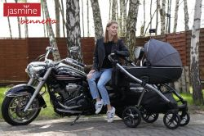Jasmine Bennetta - posel moderního stylu života - 1736400 - Designový kočárek Jasmine Bennetta 02 černý