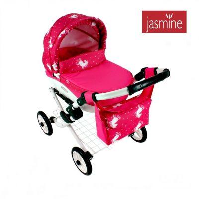 Kočárek pro panenky Jasmine Kids Jednorožec