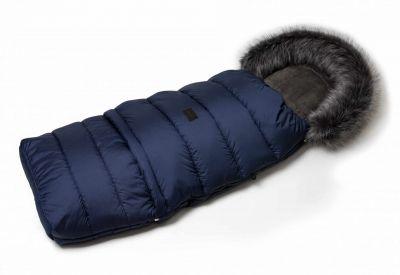 Zimní fusak s kožíškem - modrý