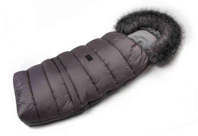 Zimní fusak s kožíškem - šedý