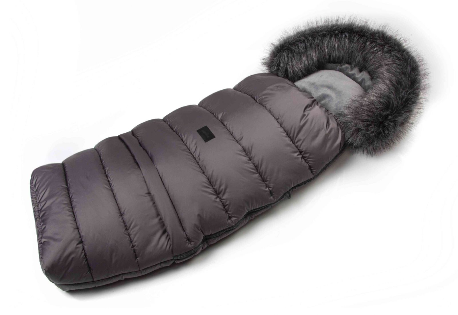 JASMINE Zimní fusak s kožíškem - šedý