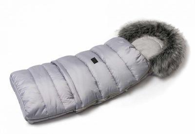 Zimní fusak s kožíškem - světle šedý
