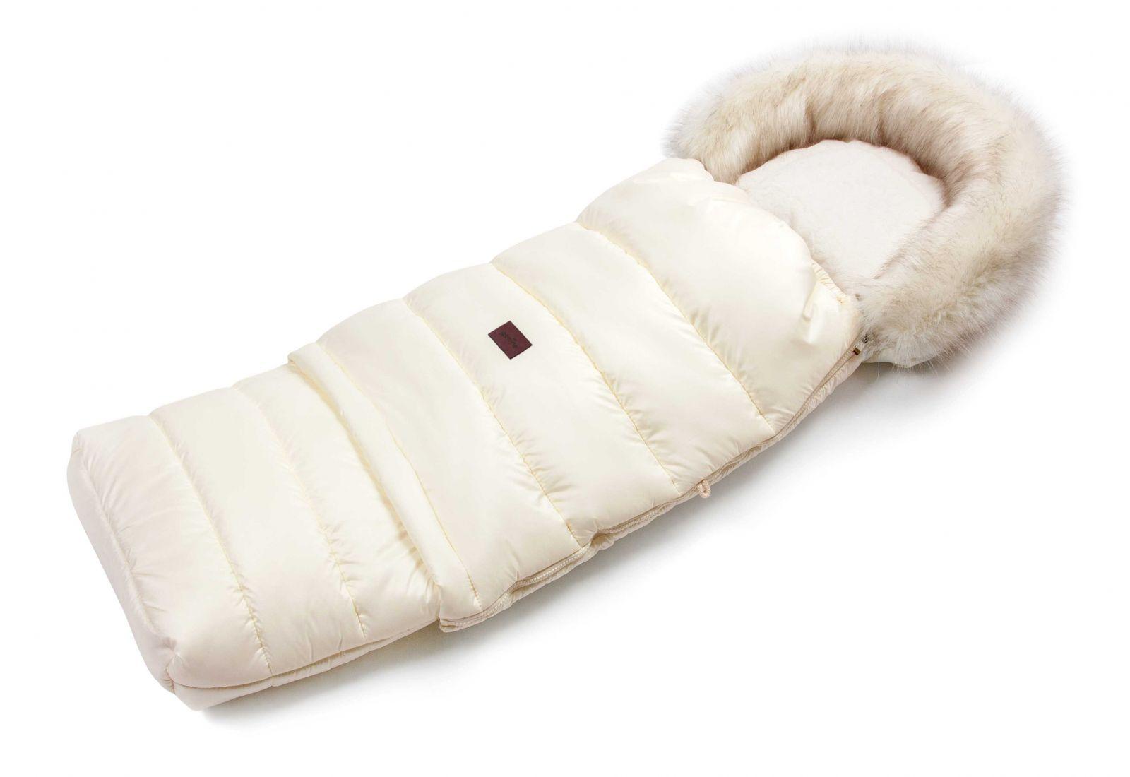 JASMINE Zimní fusak s kožíškem - světle béžový