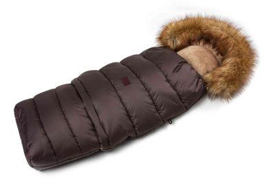 Zimní fusak s kožíškem - hnědý