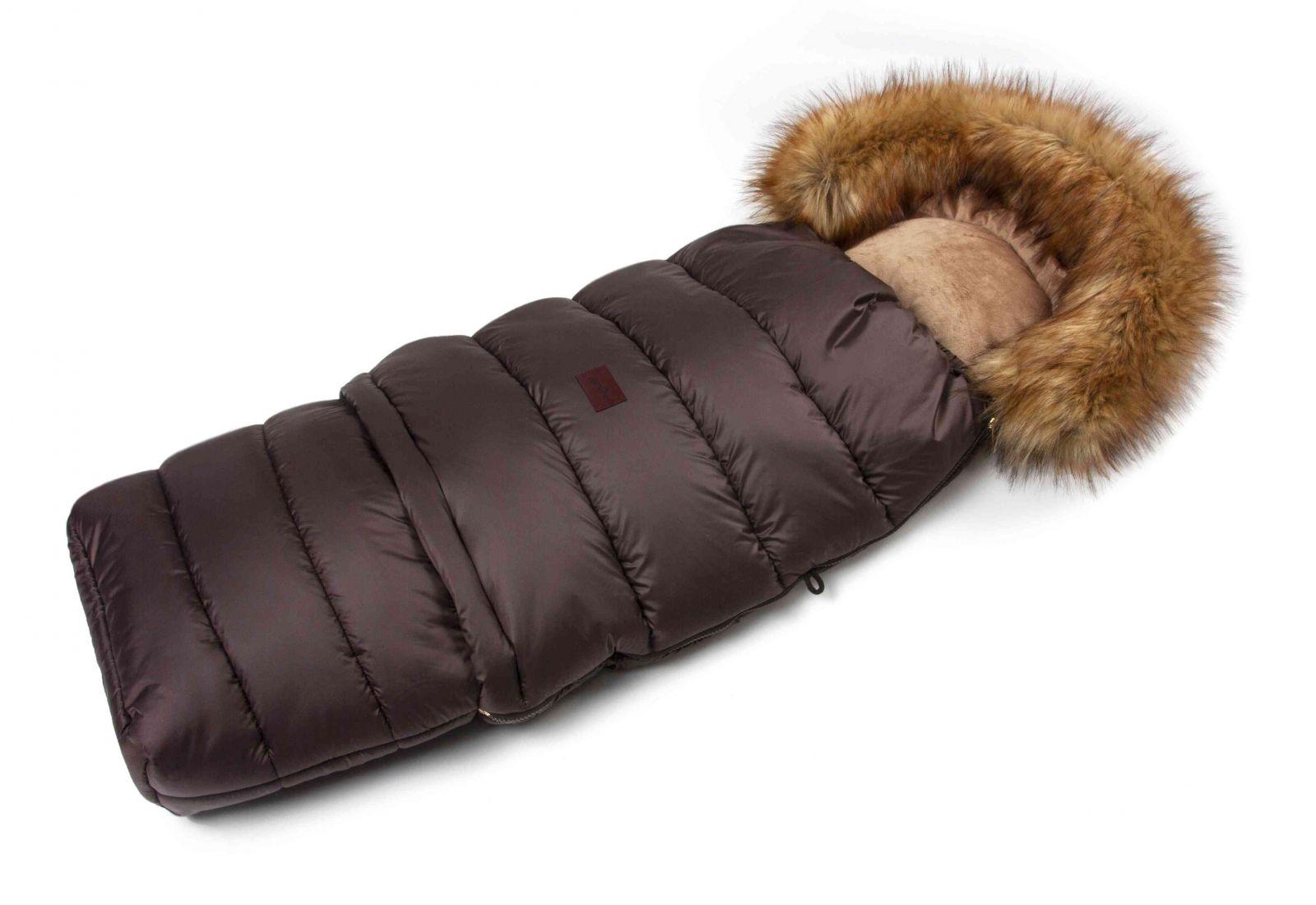 JASMINE Zimní fusak s kožíškem - hnědý