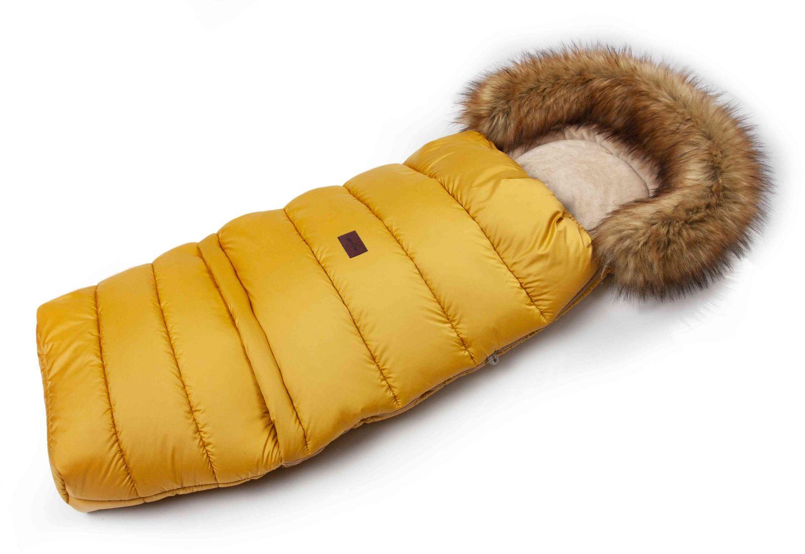 JASMINE Zimní fusak s kožíškem - medový