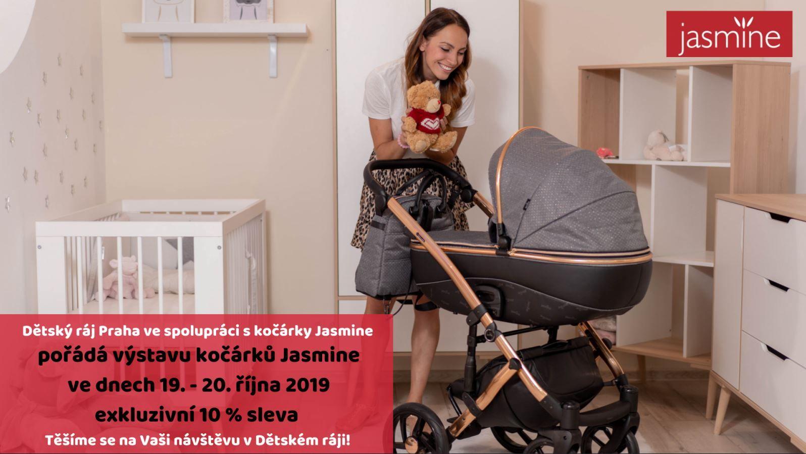 Podzimní výstava kočárků Jasmine v Dětském Ráji Praha