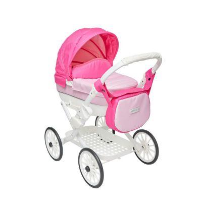 Růžový kočárek pro panenky Jasmine Kids Elegance